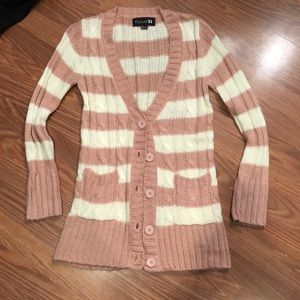 Blush and beige cardigan